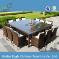 Outdoor garden wicker dining room furniture