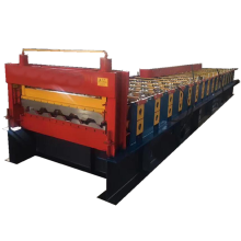Shipping container panel forming machine