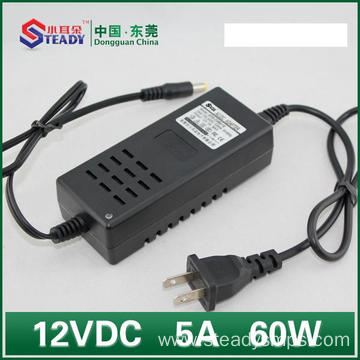 Newly Arrival for Power Supply Plug Type Desktop Type Power Adapter 12VDC 5A export to Netherlands Suppliers