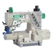 Driect drive cylinder bed interlock sewing machine with automatic trimmer and rear puller device
