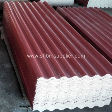 Non-asbestos Glazed Magnesium Oxide Roofing Tiles