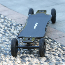 Caved carbon deck eksateboard off road