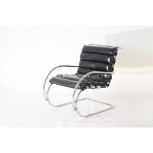 China Manufacturer for for Stainless Steel Beach Lounge Chair black leather  Mr lounge chair export to India Exporter