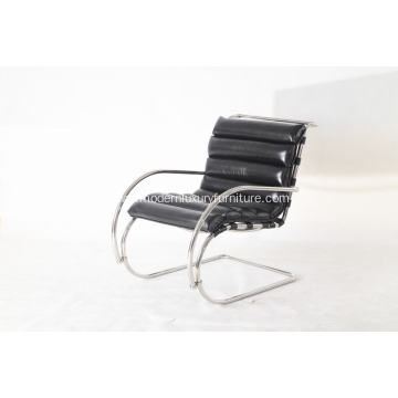 China for Lounge Stainless Steel Modern Chair black leather  Mr lounge chair export to India Exporter