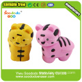 3D tiger kid eraser ,Animal rubber school office eraser