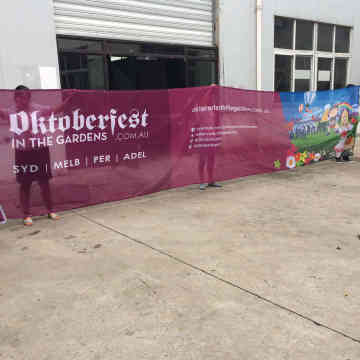 Outdoor Custom Full color mesh fabric banner