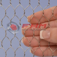 Renewable Design for Stainless Steel Hex Mesh 316 Stainless Steel Chicken Wire 1/2 Inch Hole supply to India Supplier