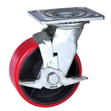 Purchasing for Brake Heavy Duty Wheel Caster 5 inch mold on polyurethane wheel casters export to Thailand Supplier