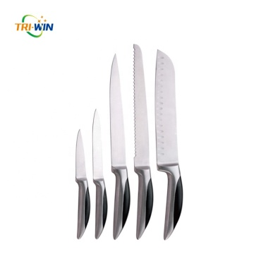 High quality hollow handle anti-slip kitchen knife set