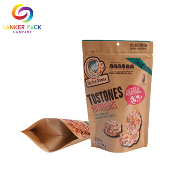 Moisture-proof Kraft Paper Bag With Zipper