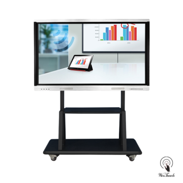 70 Inches All-In-One Touch Display with mobile stand