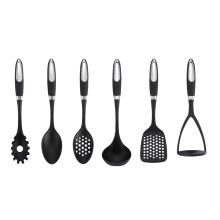 Best Quality for Nylon Kitchen Utensil Set 6Pcs Coating Handle Nylon Kitchen Utensils Set export to Indonesia Factory