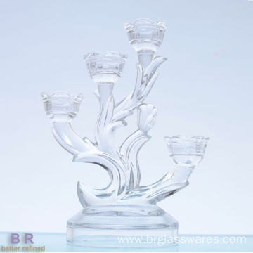 Massive Selection for for Handmade Glass Candelabra Hand Made Wedding Tall Glass Candle Holder export to Poland Manufacturer
