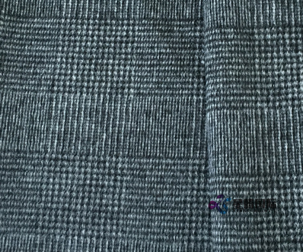 Woven Houndstooth Double Face Fleece Fabric