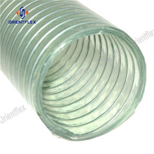 Non collapsible reinforced pvc hose