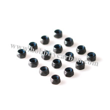 M3 Black Nylon Insert Stainless Steel Nuts