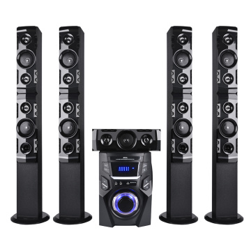 DJ tower speaker system cabinet for phone