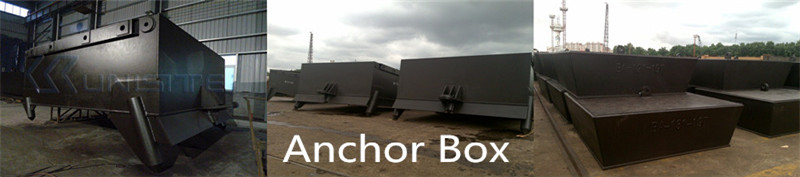 Marine steel anchor boxes