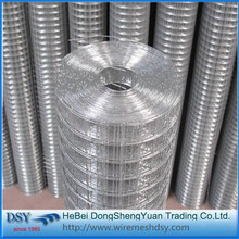 Hot dipped galvanized square welded wire mesh