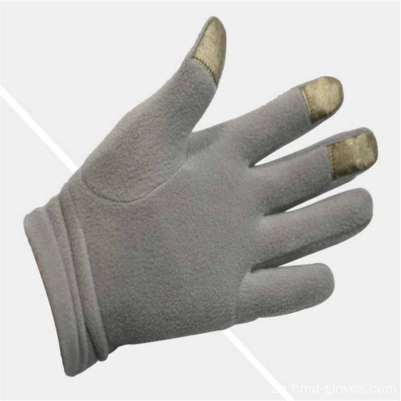 Kvinnor Vinter Warm Long Finger Polar Fleece Handskar