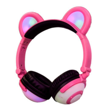 Oem cute mp3 mobile kids panda stereo headphone