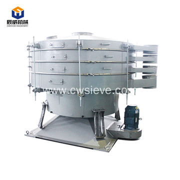 Circular swing vibrating screen with two layer screen