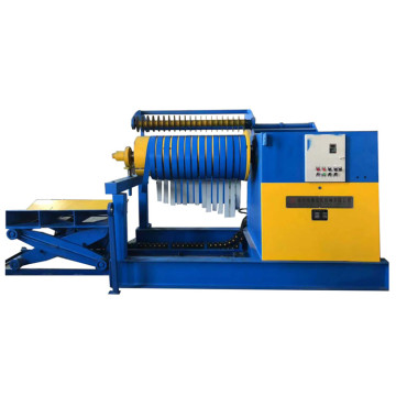 Electric and hydraulic uncoiler machine