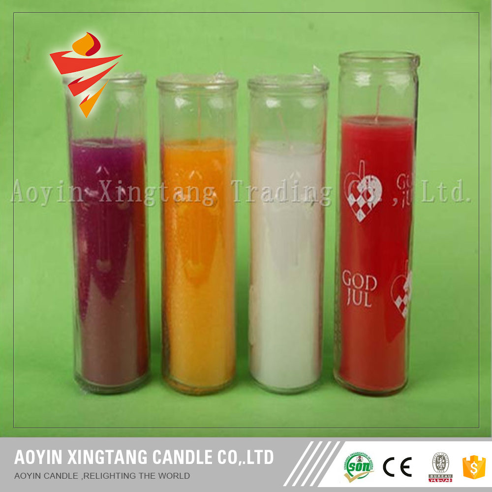 7 day glass religious candles wholesale