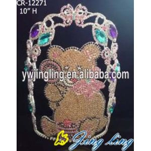 Cute Bear Animal Pageant Crown Lovely Tiara