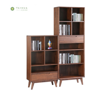 Modern Solid Wood Book Cabinet Book Shelf