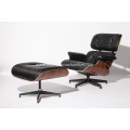Classic Aniline Leather Eames Lounge Chair and Ottoman