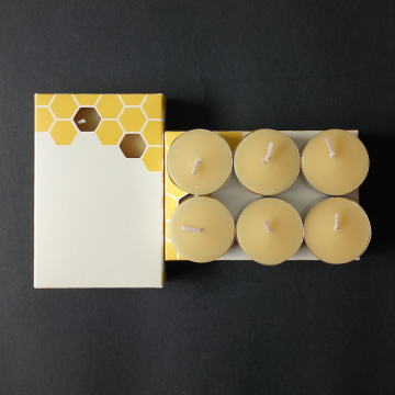 100% Pure Original Refined Beeswax Tea Light Candles