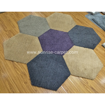 Shaggy rug carpet tile with TPE backing