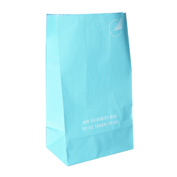 airline vomiting  paper bag