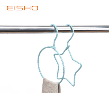 EISHO Metal Rings Rope Hangers for scarves Ties
