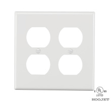 Europe style for Decorative Screwless Wall Plate UL American standard  2 Receptacle Cover Plate supply to Sri Lanka Importers