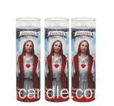 Religious Candle 7 Day Galss Jar Candle