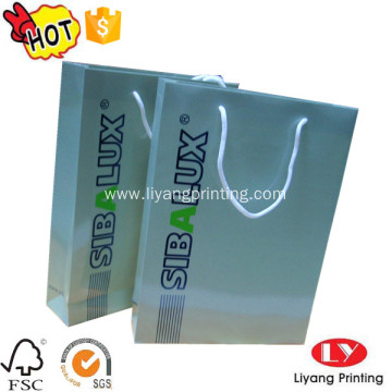 Gift paper packaging bag with logo printed