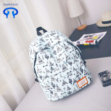 New printed backpack for women college students