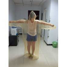 High Efficiency Factory for Transparent PE Raincoat waterproof clear color PE raincoat suit export to Poland Factory