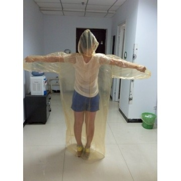 waterproof clear color PE raincoat suit