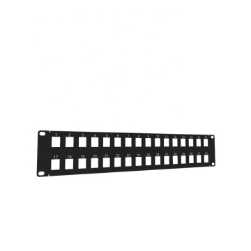 2U 32-Port Blank Keystone Patch Panel