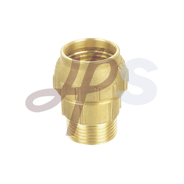 Brass compression coupling for PE-PPR pipe