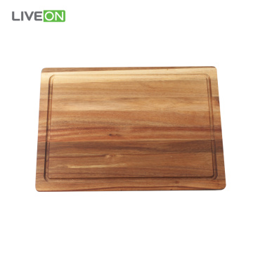 Acacia Wood Cutting Board and Knife Set