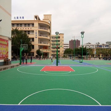 Outdoor Interlocking Modular Sports Court Tile