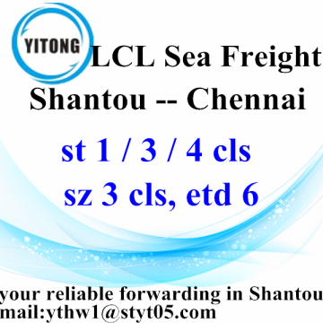 LCL Logistic Services from Shantou to Chennai