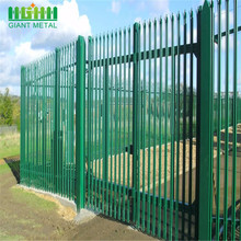 China New Product for Palisade steel fence Powder Coated Steel W Pale Palisade Fencing export to Norway Manufacturer