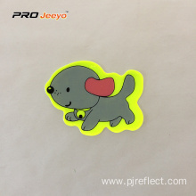 Reflective Adhesive Pvc Dog Shape Stickers For Children
