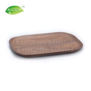 Square Walnut Wood Plate For Serving Food