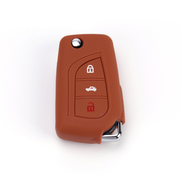 Toyota fortuner silicone key cover remote fob shell
